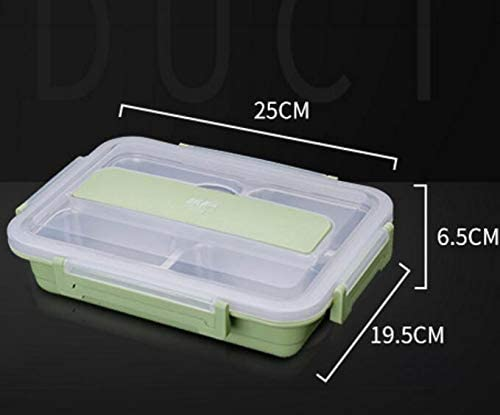 Mode Mode Mode mignon boîte à lunch étudiante isolée en acier inoxydable avec couvercle (vert nordique) B07L7NKKLL 62bdad