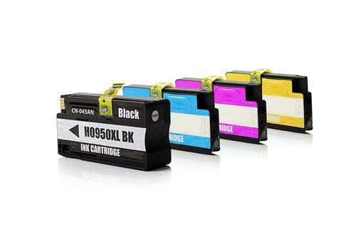 Preisvergleich Produktbild Inkadoo Tinte passend für HP OfficeJet Pro 8620 e-All-in-One kompatibel zu HP 950XL/951XL C2P43AE - 4x Premium Drucker-Patrone Alternativ - Schwarz, Cyan, Magenta, Gelb - 1 x 2300, 3 x 1.500 Seiten - 1 x 82, 3 x 28 ml
