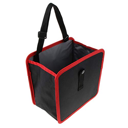 IPOTCH Auto Mülleimer Abfall-Tasche Abfalltasche Abfalleimer Abfallsammler Automatischer Organizer für Müll Müllbeutel, Wiederverwendbar - Rot