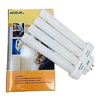 ARSUK® Ersatz ökonomisch Tageslicht Birnen hoch Vision lesen Lichter [Energieklasse A++] (27W Ersatzlampe)