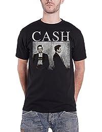 Johnny Cash T Shirt Distressed Kaffeetasse Shot Bold Logo offiziell Herren Nue