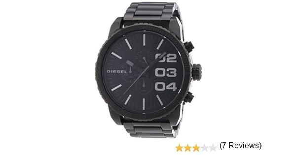 24807c67bc22 Diesel - DZ4207 - Montre Homme - Quartz Analogique - Cadran Noir - Bracelet  Acier Inoxydable Noir  Amazon.fr  Montres