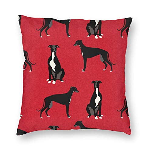 Huabuqi Greyhound Black Pet A Coordinate Nursery Dog_134 Decorativo Federa Home Decor Federa Colorata 18x18 Pollici