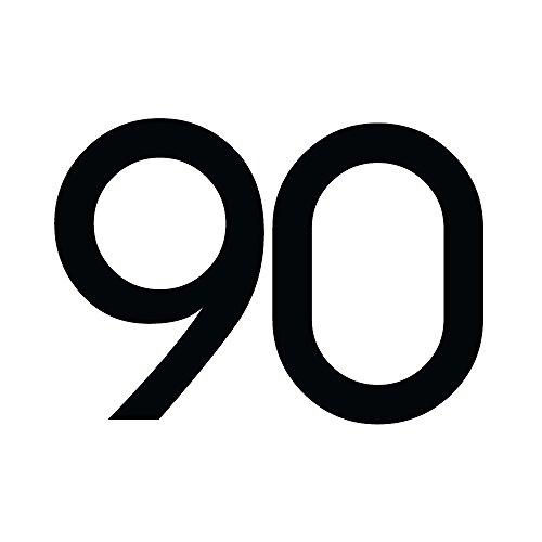 Zahlenaufkleber Nummer 90, schwarz, 5cm (50mm) hoch, Aufkleber mit Zahlen in vielen Farben + Höhen, wetterfest