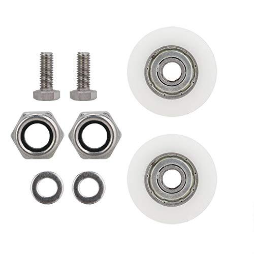 Leinggg Gewächshaus-Türräder - Ersatzsatz for Elite-Gewächshaus-Türräder mit 30 mm Durchmesser