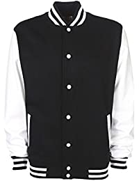FDM College Jacket FV001 XXL,Black/White