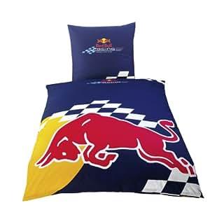 """Global Labels G 58 600 RB5 120 Red Bull Racing """"Bull"""" Renforce Bettwäsche 135 x 200 cm Bettbezug 80 x 80 cm Kissenbezug"""