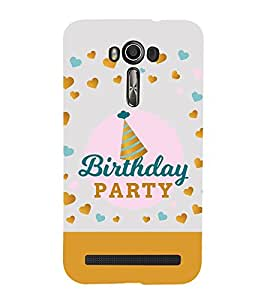 Fiobs Designer Back Case Cover for Asus Zenfone 2 Laser ZE601KL (6 Inches) (Birthday Quote Party)