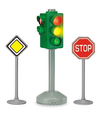 (Dickie Toys 203341000 - City Light, batteriebetriebene Ampel mit zwei Verkehrszeichen, 12 cm)