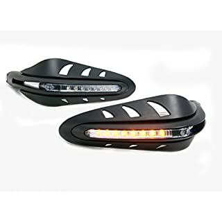 Motorbike Integrated LED Handguards with Indicators Turn Signals for Adventure Bike Quad ATV Trike