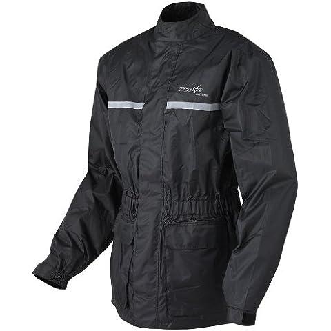 Nerve Heavy Rain Chaqueta Impermeable de Moto, Negro, 3XL
