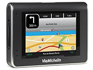 ViaMichelin GPS X970T France (SD 512Mo), Info Trafic, Bluetooth, Guide Rouge/Vert, radars