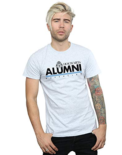 Harry Potter Herren Hogwarts Alumni Ravenclaw T-Shirt Sport Grau Medium