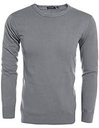Coofandy Strickpullover Feinstrickpullover Sweater Pulli Sweatshirts  Langarmshirts Herren Lässige Slim Fit Rundhalsausschnitt bf56107683