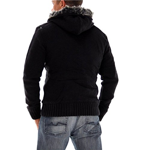 POOLMAN Herren Strickjacke Black 4352 Schwarz