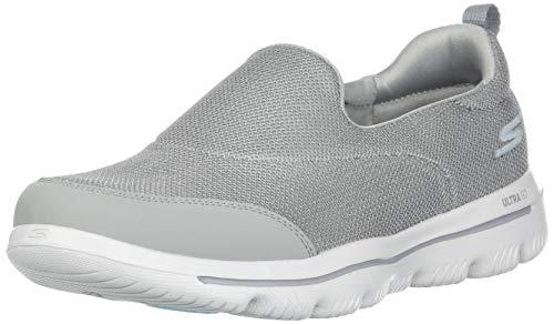 Skechers Damen Go Walk Evolution Ultra-Reach Slip On Sneaker, Grau (Grey Gry), 40 EU (Skechers Go Walk Schuhe Für Frauen)