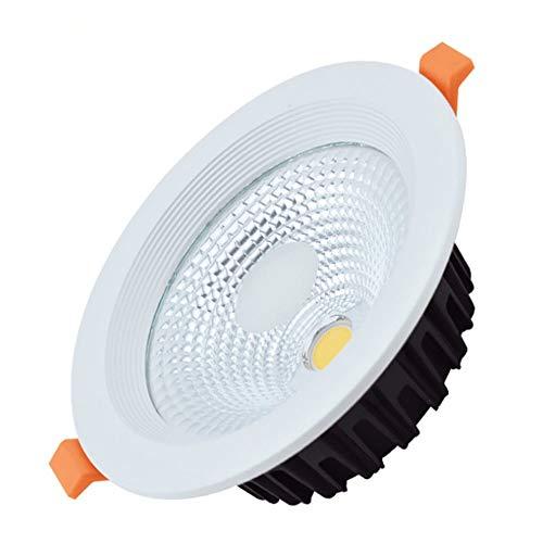 Aluminium Garage (Yaione LED Einbaudownlight Indoor Home Beleuchtung 5 Watt 120LM Kühles Weißes Licht 6000 Karat Deckenleuchte Sicherheit Aluminium einteilige Nennspannung Garage Panel Licht for Badezimmer Restaurant [)