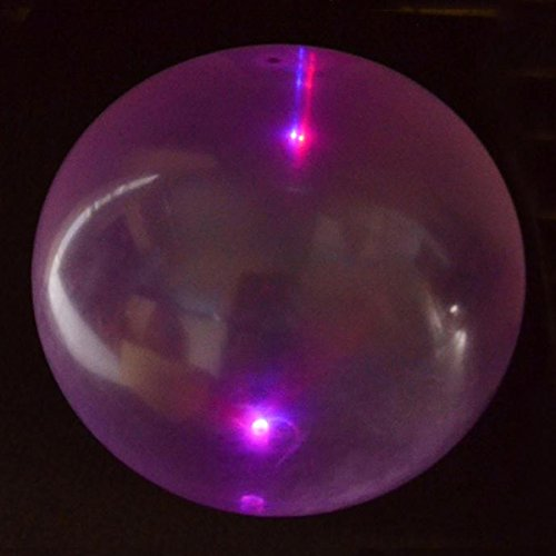 Anti-Gravity Balloon, Blasenball, mit Aufblasröhrchen, 50cm, mit LED-Licht,1 Stück, Farbton Nicht wählbar
