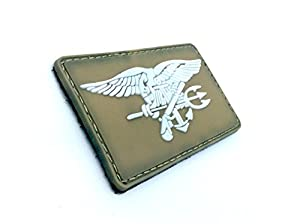US Navy Seal Special Ops Aigle Dark Earth Patch Velcro Airsoft PVC