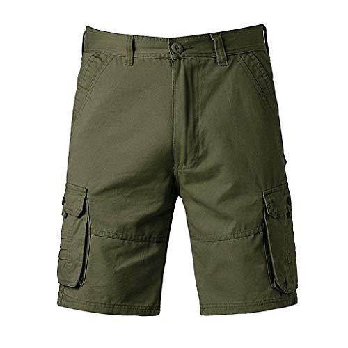 Floweworld Männer Shorts Sommer Männer Mode Lässig Baumwolle Hosen Tasche Einfarbig Freien Arbeitshose Cargo Kurze Hosen - Cargo Travel Organizer