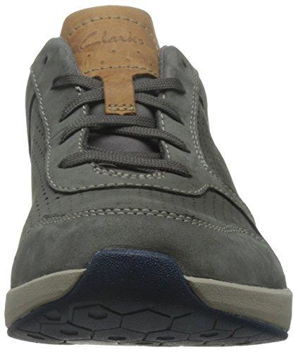 Clarks Sirtis Mix Mens Casual scarpe da ginnastica Grey Nubuck