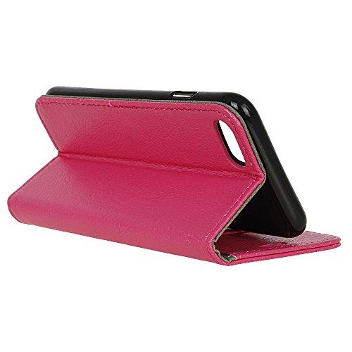 MOONCASE iPhone 7 Plus Bookstyle Étui Housse en Cuir Case Support à rabat Coque de protection Portefeuille TPU Case pour iPhone 7 Plus Léopard Rose