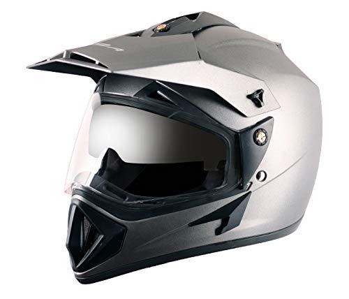 Vega Off Road OR-D/V-DA_M Full Face Motocross Helmet (Dull Anthracite, M)