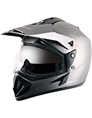 Vega Off Road OR-D/V-DA_M Full Face Motocross Helmet (Dull Anthracite, M)