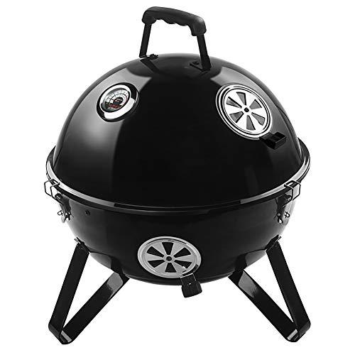 HECHEN Tragbarer Grill für Haushalt im Freien -46,5 × 57 cm / 18,3 × 22,4inBBQ BBQ Grill gegrillt - gegrilltes Hühnchen gegrillte Spieße