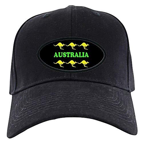 Preisvergleich Produktbild Kangaroos Australia Black Cap & Gold - Baseball Hat,  Novelty Black Cap
