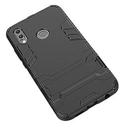Avidet Huawei P20 Lite Hülle - Bumper Und Anti-scratch 2 In1 Tpu Silikon Case Für Huawei P20 Lite (Schwarz)