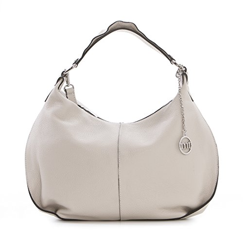 cc2d406bd12 Mia Tomazzi - Leather Handbag - BEIGE (32) - Made in Italy - 38x15x35