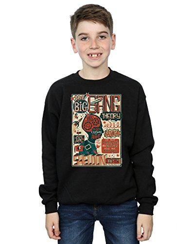 Big Bang Theory Jungen Infographic Poster Sweatshirt 5-6 Years Schwarz -