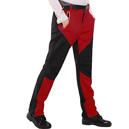 SiDiOU Group Pantalones de trekking Mujer Pantalones Softshell Pantalones de Montaña Al aire libre Pantalones impermeables Resistente al viento transpirable Lana Forrado Pantalones de escalada de mujere Lana Forrado Pantalones de escalada de mujer (S 28(W