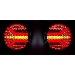2x LED posteriore neon combination Tail 12V 24V luci lampade con dinamica indicatori di direzione e-contrassegnato telaio camion rimorchio camper Bus