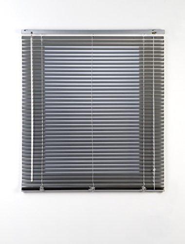 Estores Basic, persianas venecianas de aluminio, Plata, 150x175cm, persianas venecianas, estores para ventana