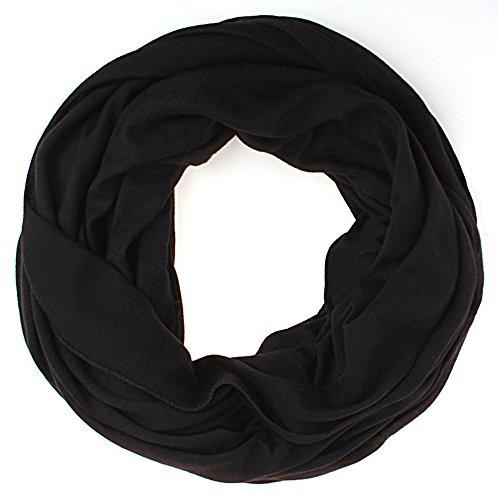 Schlauchschal Uni Damen Frühling/Sommer Damen Tuch Halstuch schwarz