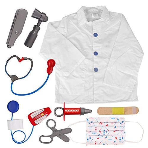TopTie Rollenspiel-Set Arzt Krankenschwester Chirurg Kostüme Für Kinder Doctor S (Baby Königin Der Herzen Kostüm)