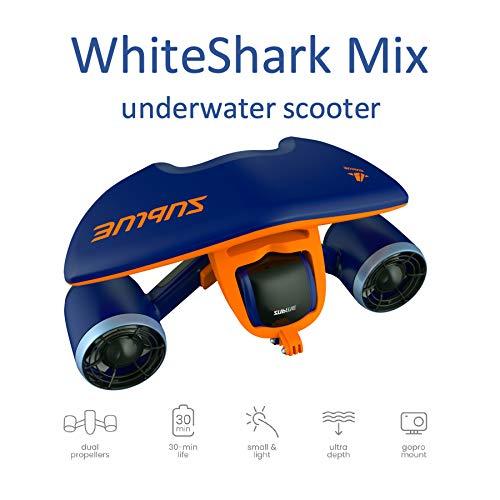 Sublue Scooter Elettrico Sottomarino WhiteShark Mix profondità 40 m Batteria 122Wh velocità Funzionamento 30min Immersioni subacquee Spiaggia Estate Snorkeling Vacanze Mare Adulti Turchese WHSHAB01