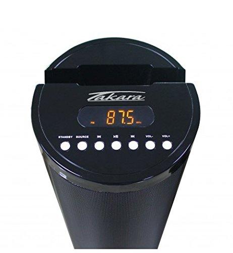 TAKARA SL510BT Enceinte bluetooth tour 2.1-80W - Port USB - Jeu de lumieres LED