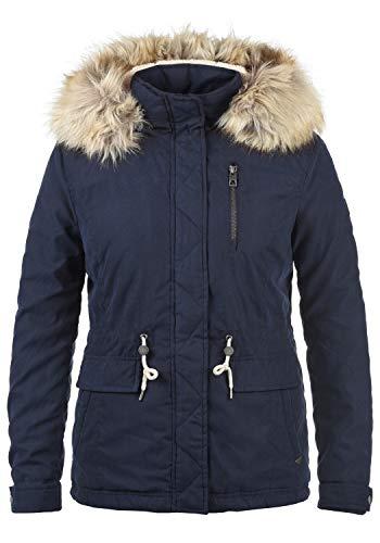 04b2b286c67566 VERO MODA Fura Damen Winterjacke Damenjacke Jacke Mit Teddyfutter-Kapuze  mit Abnehmbarem Kunstfell.
