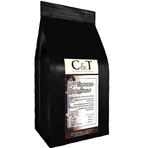 Kaffeebohnen Entkoffeiniert - UNSER ESPRESSO CREMA - 200g Grob Gemahlen - für Stempel-kanne...