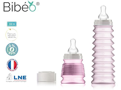 biberon-rvolutionnaire-nomade-hyginique-rose330-ml-ttine-dbit-moyen4-6mois-bague-capuchon-en-matires