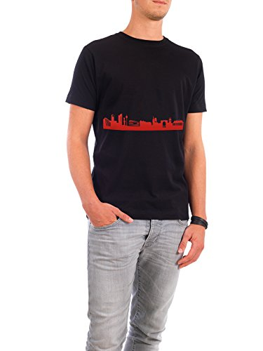 """Design T-Shirt Männer Continental Cotton """"STUTTGART 03 Monochrom Tangerine"""" - stylisches Shirt Abstrakt Städte Städte / Stuttgart Reise Architektur von 44spaces Schwarz"""
