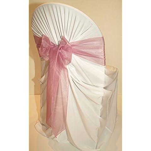 EDS, colore: rosa con fiocco, in Organza, fascia Party sashes per decorazioni, da 10