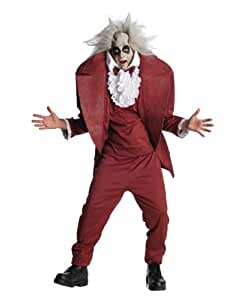 "Beetlejuice Costume, Mens Beetlejuice Shrunken Head Costume, Standard, CHEST 44"", WAIST 30 - 34"", INSEAM 33"""
