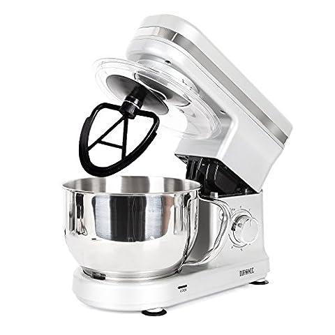 Duronic SM100 /SR Robot de cuisine batteur mélangeur pétrisseur compact avec bol 4 litres