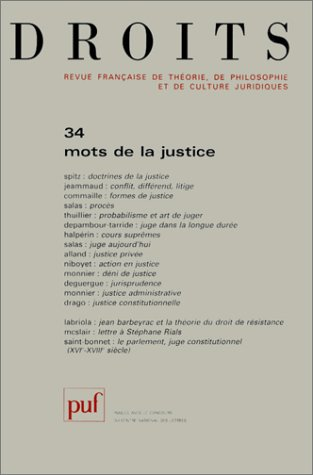 Droits, numéro 34 : Mots de la justice par Collectif