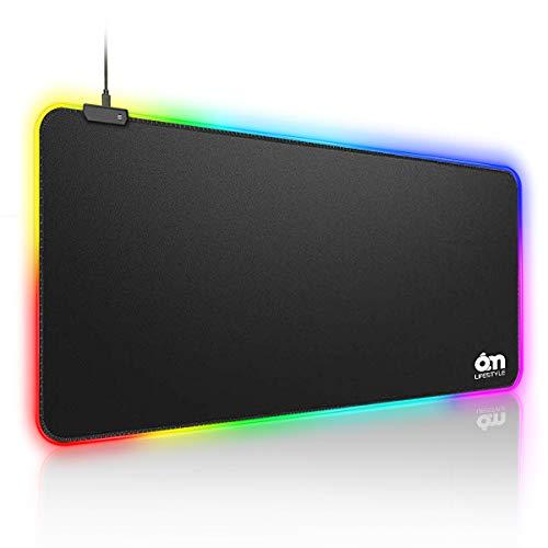6amLifestyle Alfombrilla Ratón Ordenador Gaming RGB
