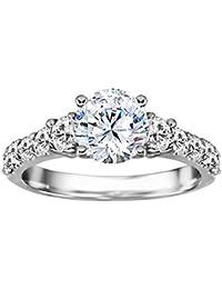 Silvernshine White Cubic Zirconia Diamond 10k Yellow Gold Over Bride Wedding Engagement Ring